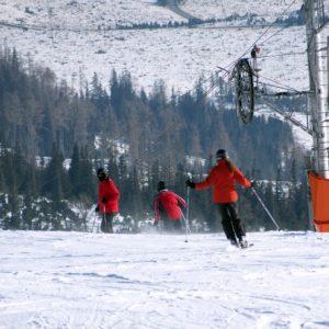 Ludzie na stoku narciarskim. Część 1