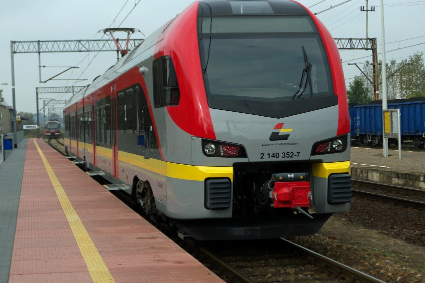 Sieradz i pociąg ŁKA