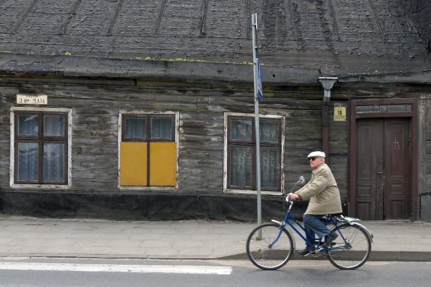 Zgierz - drewniane domy
