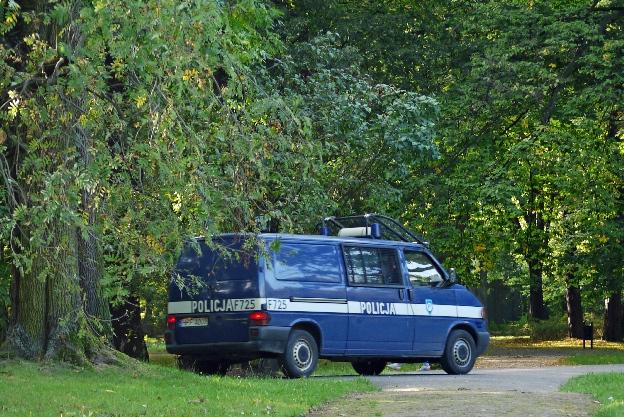 policja w parku