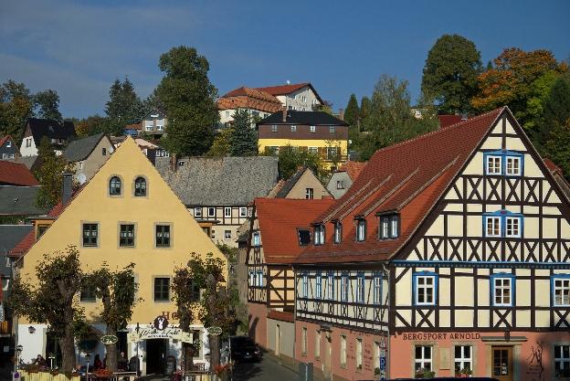 Hohnstein - widok na miasto