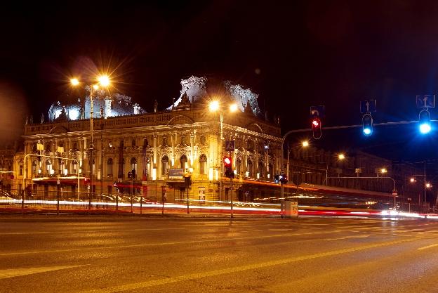 Pałac Poznańskiego nocą