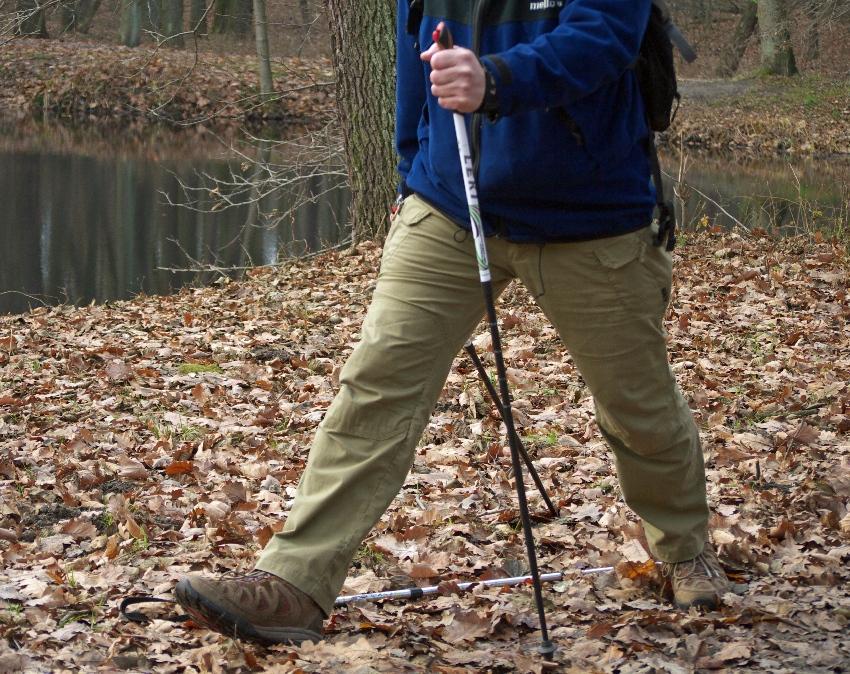 Podstawą nordic walking jest długi krok