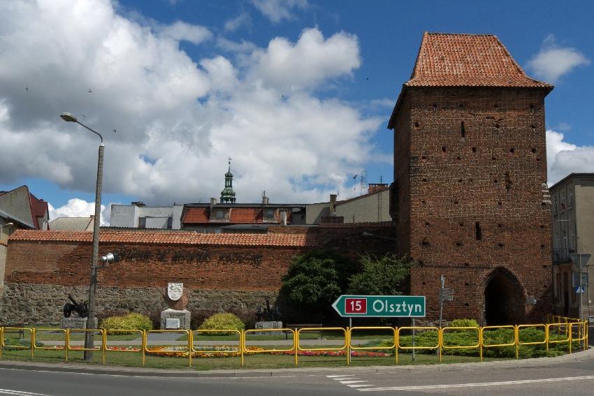 nowe miasto lubawskie mury baszta