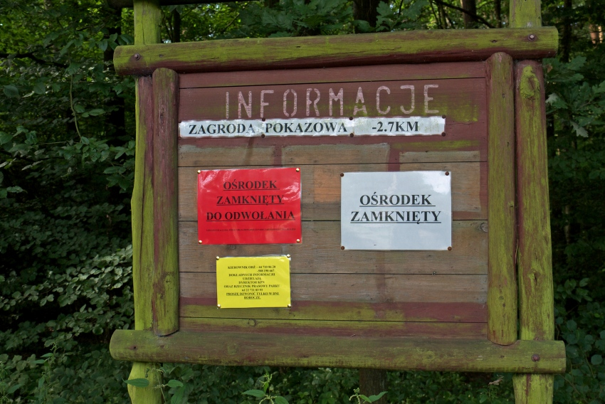 Spalski Park Krajobrazowy - tablica informacyjna