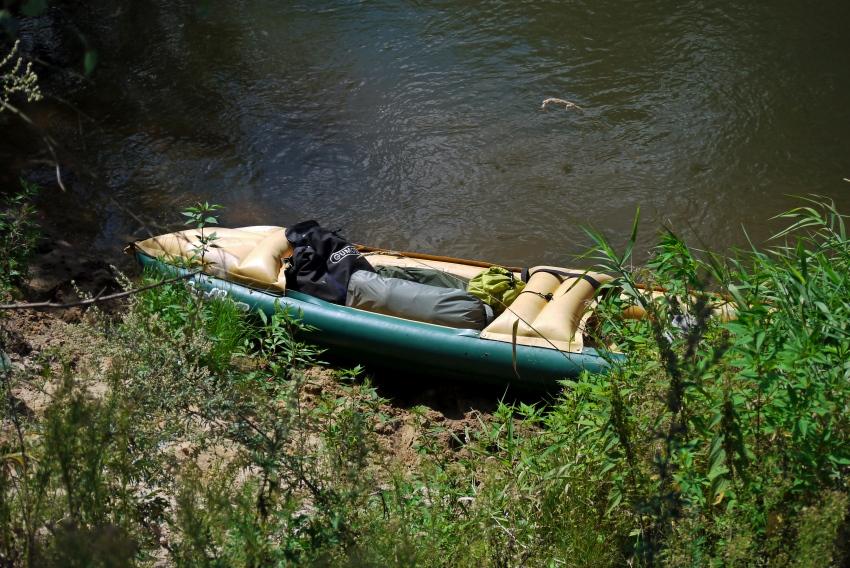 rzeka Prosna i kajak