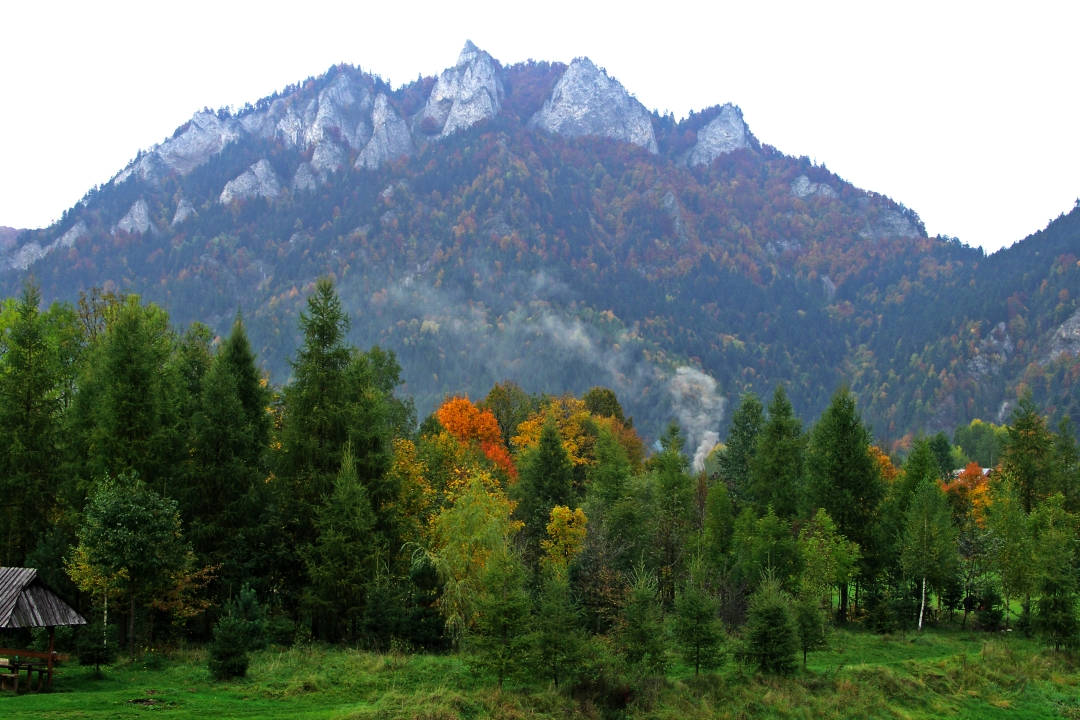 jesień w Pieninach Trzy Korony