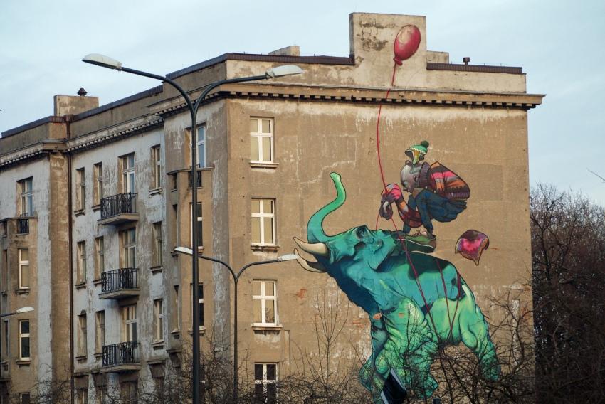 łódź miastem murali