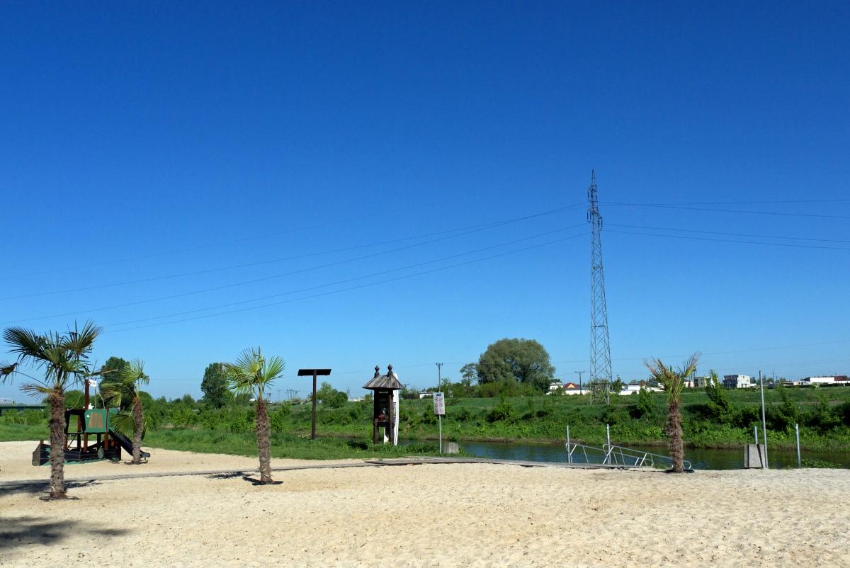 Plaża nad Bzurą.  Łowicz atrakcje