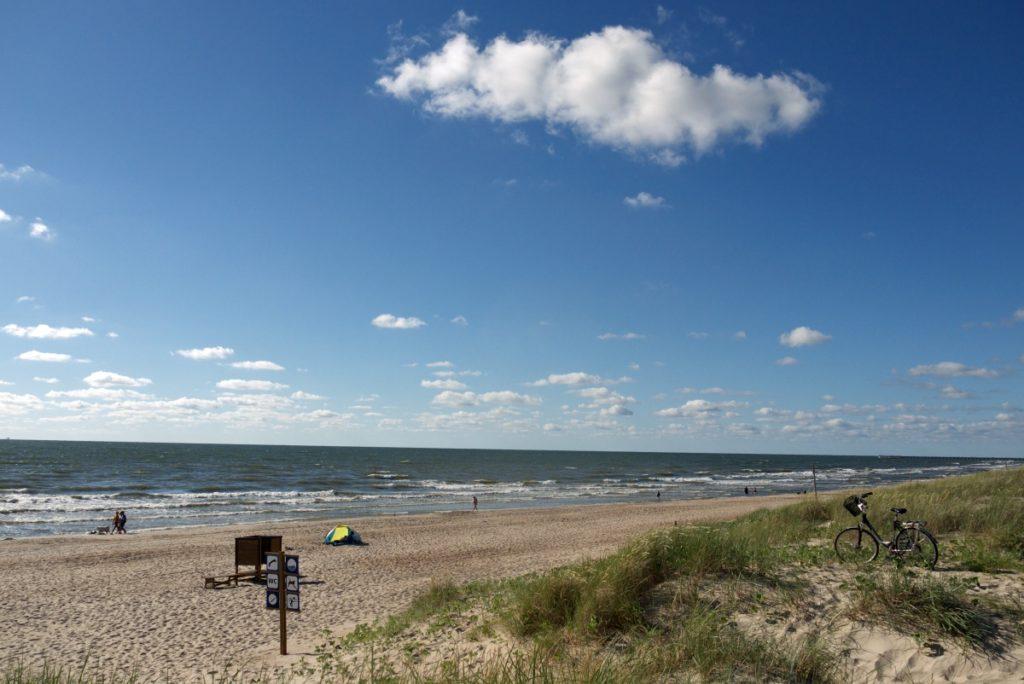 na morzem na Litwie i Łotwie