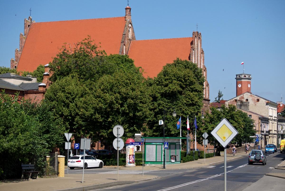 Gotycki kościół podwyższenia Krzyża Świętego w Kole