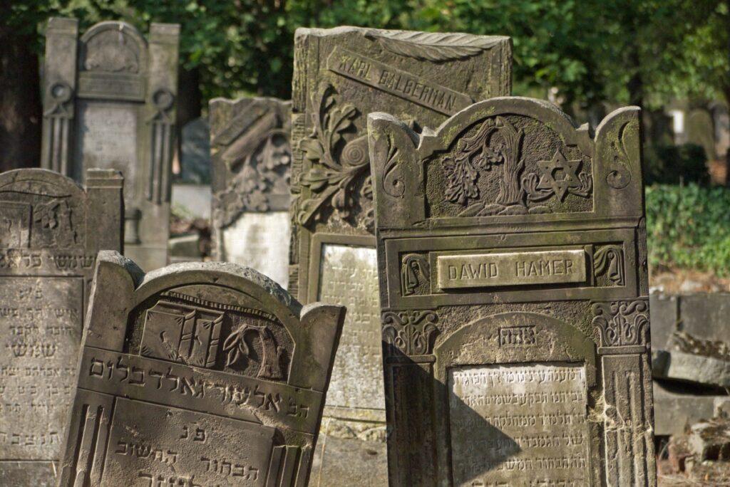 macewy na cmentarzy żydowskim w Łodzi