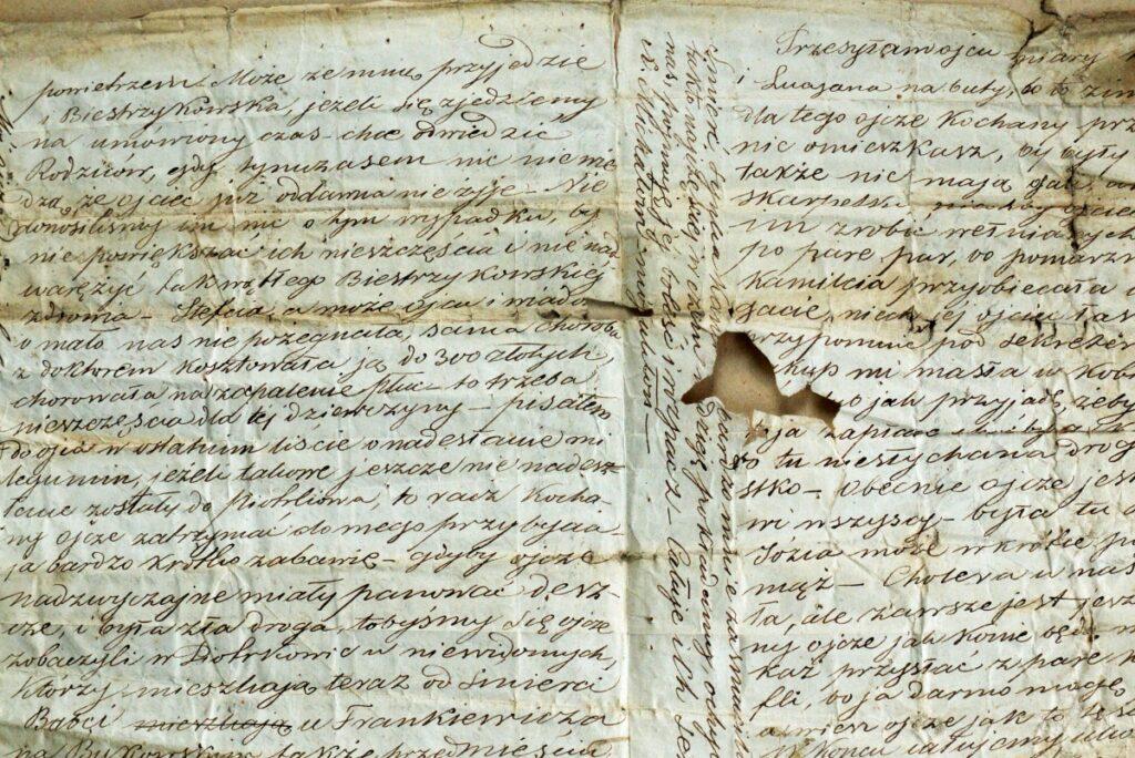 List z XIX wieku