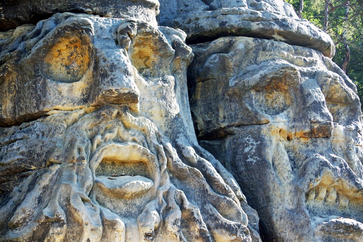 Čertovy hlavy - skalne rzeźby