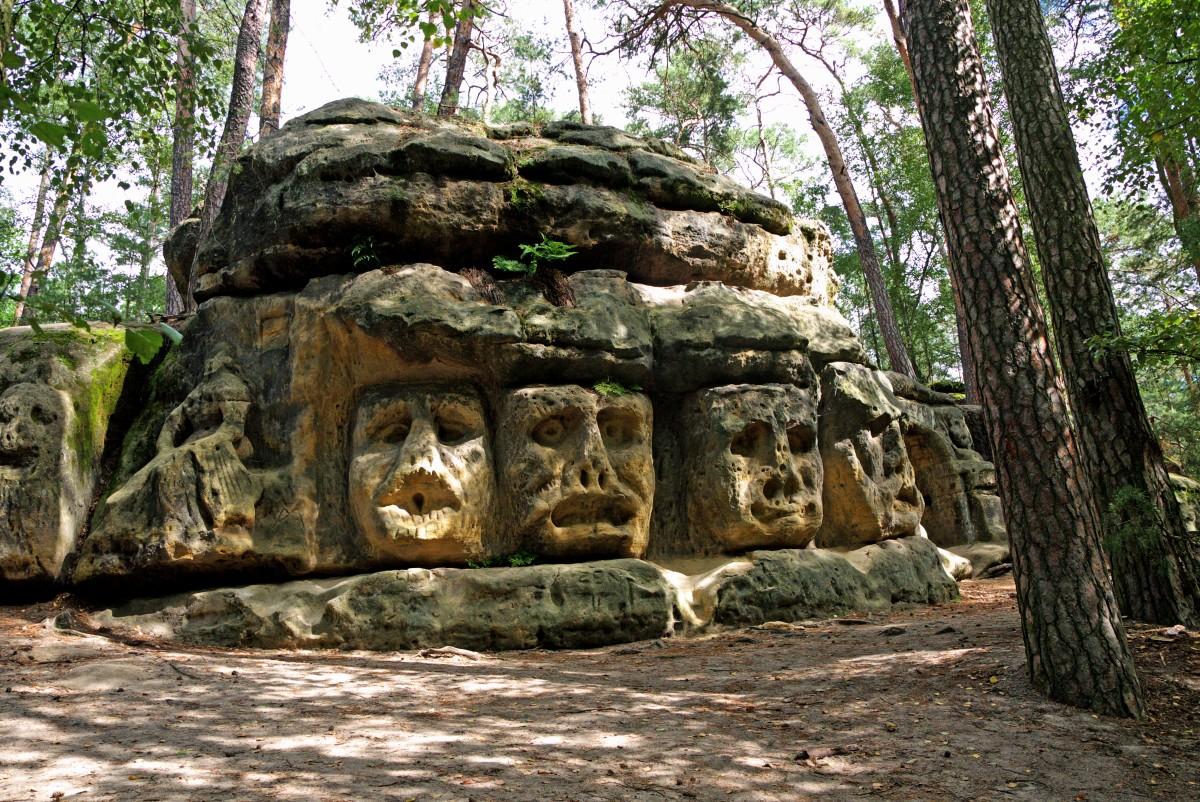 skalne rzeźby - Harfenice